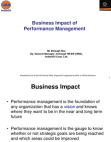 Business Impact of Performance Management - Indian Oil
