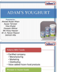 Project on Adam's Youghurt