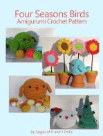 Four Seasons Birds Amigurumi Crochet Pattern