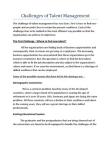 Challenges of Talent Management