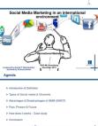Social Media Marketing in an international  environment