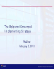 Implementing Strategy of Balanced Scorecard