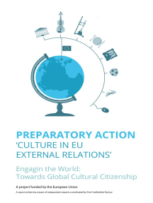 Preparatory Action: 'Culture in EU external relations'
