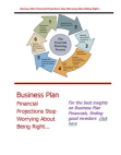 Study Report on Business Plan Financial Projections