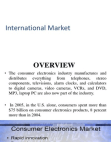 Study Report on Consumer Electronics - International Market