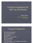 Project Report on Financial Projections for Start-Up Businesses