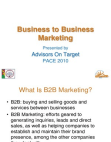 Business to Business Project on Business Marketing