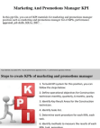 PPT for Marketing And Promotions Manager KPI