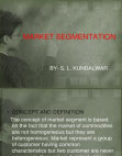 Project on Market Segmentation