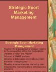 A Study on Strategic Sport Marketing Management