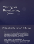 Project on Broadcasting on Radio and TV