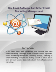 Project on Email Marketing Management