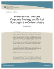 Case Study on Corporate Strategy - Starbucks vs. Ethiopia