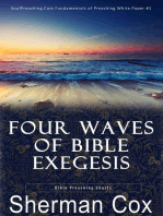 Four Waves Of Biblical Exegesis