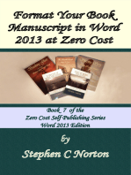 Format Your Book Manuscript in Word 2013 at Zero Cost