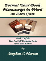 Format Your Book Manuscript in Word at Zero Cost