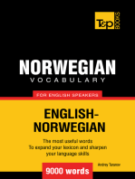 Norwegian vocabulary for English speakers