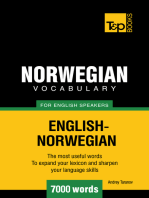 Norwegian vocabulary for English speakers: 7000 words