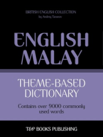 Theme-based dictionary: British English-Malay - 9000 words