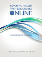 Teaching Health Professionals Online