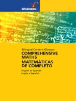 Comprehensive Maths Glossary: Bilingual Content Glossary, English to Spanish