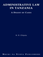 Administrative Law in Tanzania. A Digest of Cases