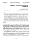 Study on Effectiveness of Organizational Communication in the Global Age