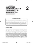 Study on Corporate Communication in Contemporary Organizations