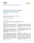 Whitepaper on Modelling Hospital Materials Management Processes