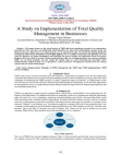 Case study on Implementation of Total Quality Management in Businesses
