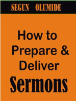 How to Prepare and Deliver Sermons