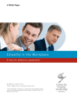 White Paper on Empathy in the Workplace