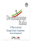 Project on Attract Foreign Direct Investment - Italia
