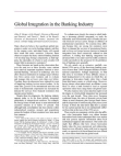 Project on Global Integration in the Banking Industry