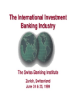 Study in International Investment Banking Industry - Swiss Bank