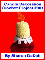 Candle Decoration Crochet Project #801