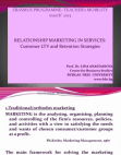 Project Report on Relationship Marketing In Services