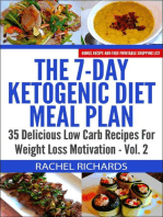 The 7-Day Ketogenic Diet Meal Plan: 35 Delicious Low Carb Recipes For Weight Loss Motivation - Volume 2: The 7-Day Ketogenic Diet Meal Plan, #2