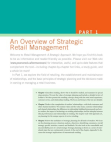 Project Report on Retail Management - Strategic Approach