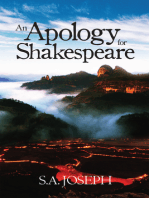 AN APOLOGY FOR SHAKESPEARE
