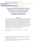 Research Study on Psychological Capital - Organizational Psychological