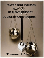 Power and Politics in Government (A List of Quotations)
