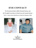 EYE CONTACT- The Mysterious Death in 2000 of Kassidy Bortner & the Wrongful Convictions of Chad Evans and Amanda Bortner Volume 2