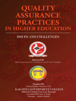 Quality Assurance Practices in Higher Education: ISSUES AND CHALLENGES