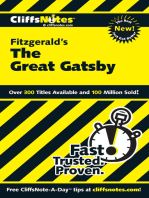 CliffsNotes on Fitzgerald's The Great Gatsby