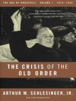 The Crisis of the Old Order