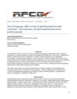 Study on International Business Professionals