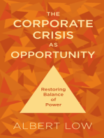 The Corporate Crisis As Opportunity