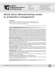 Study Paper on World Class Manufacturing Model in Production Management