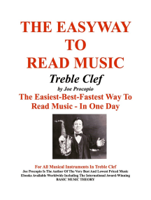 The Easyway to Read Music Treble Clef: The Easiest-Best-Fastest Way To Read Music - In One Day